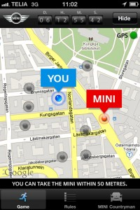 Mini created a Treasure Hunt app to launch the new Mini Cooper in Europe
