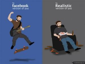 Facebook isn't real